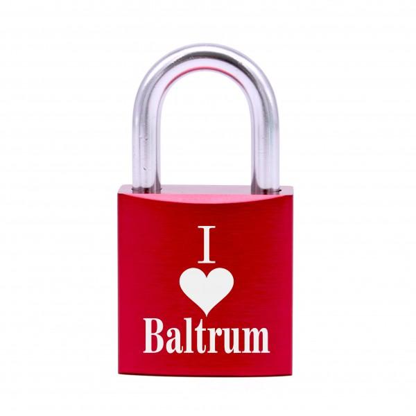 Schloss mit Gravur I love Baltrum • 5 Farben