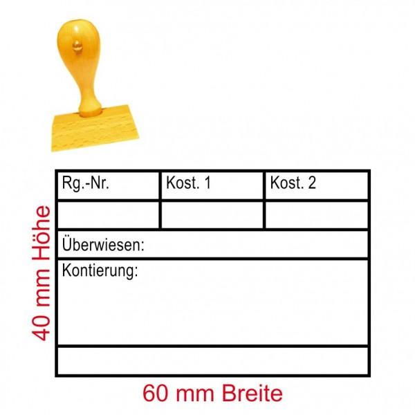 Stempel Überwiesen - Tabelle - 60 x 40 mm