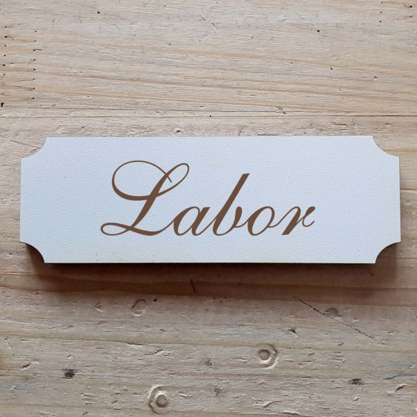 « Labor » Hinweisschild