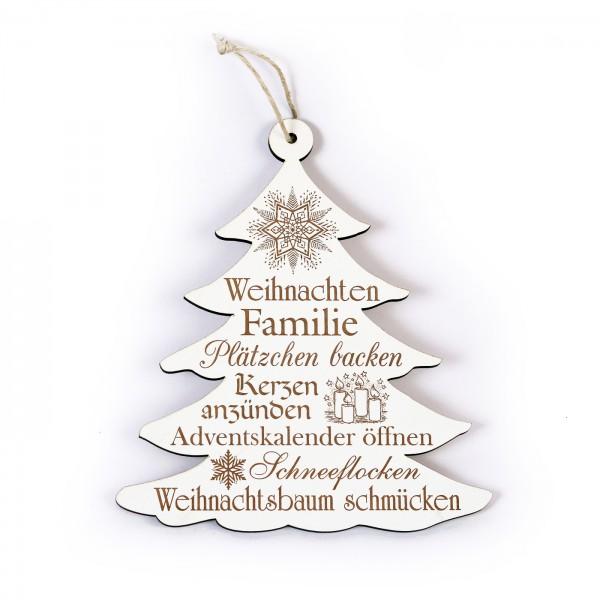 Schild Tannenbaum Weihnachten - mit Motiven