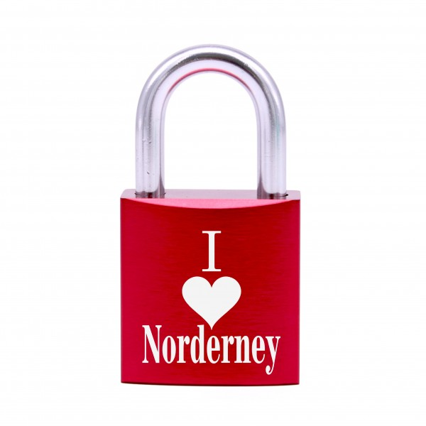 Schloss mit Gravur I love Norderney • 5 Farben