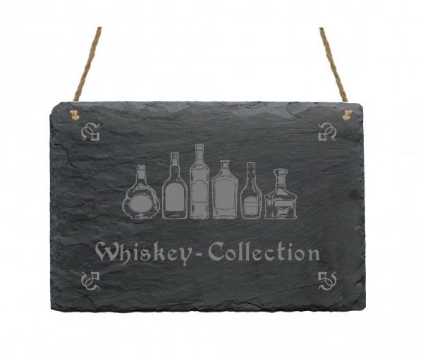 Schiefertafel « Whiskey-Collection »