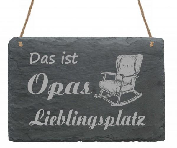 Schild Das ist Opas Lieblingsplatz - Türschild Schaukelstuhl 22 x 16 cm