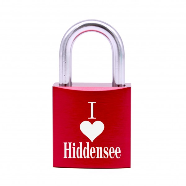 Schloss mit Gravur I love Hiddensee • 5 Farben