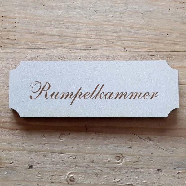 « Rumpelkammer » Hinweisschild