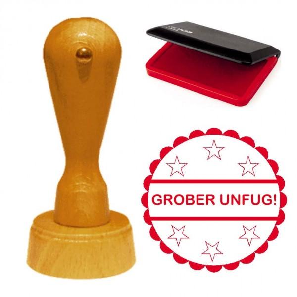 Cooler Stempel « GROBER UNFUG! » inkl. Stempelkissen