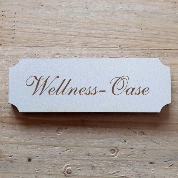 « Wellness-Oase » Hinweisschild