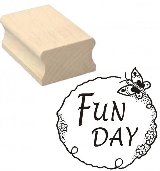 Stempel « FUN DAY » Motivstempel 40 x 40 mm