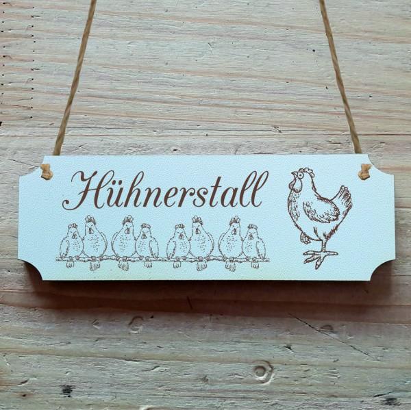 Dekoschild « Hühnerstall »