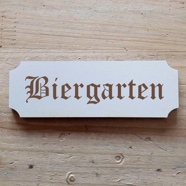 « Biergarten » Hinweisschild