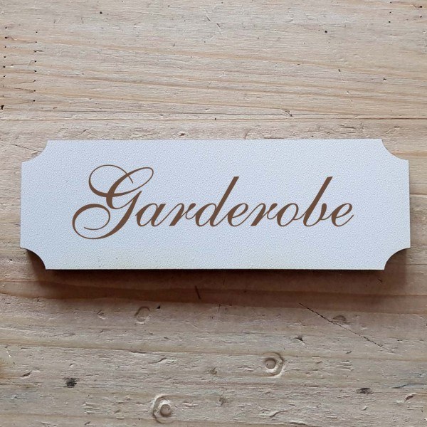« Garderobe » Hinweisschild
