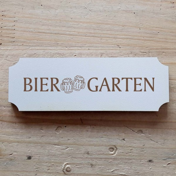 « Biergarten » Hinweisschild mit Motiv