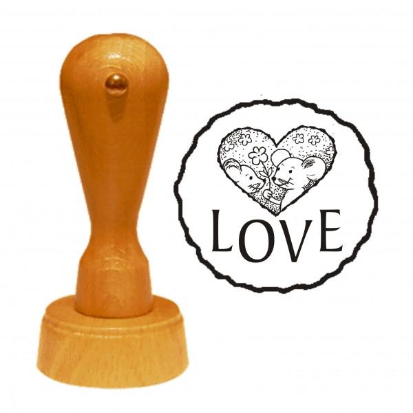 Stempel « LOVE » Motivstempel Mäuseherz