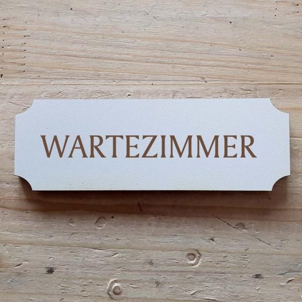 « Wartezimmer » Hinweisschild