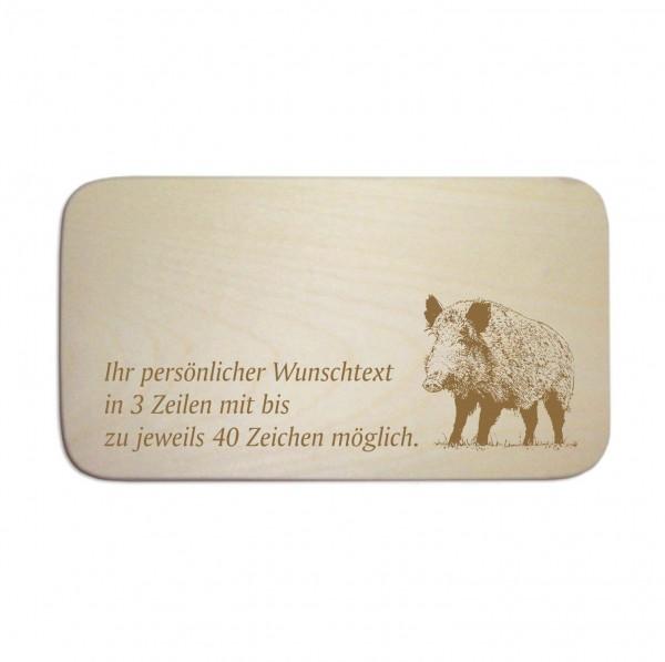 Frühstücksbrettchen « Wildschwein Keiler » mit Wunschgravur