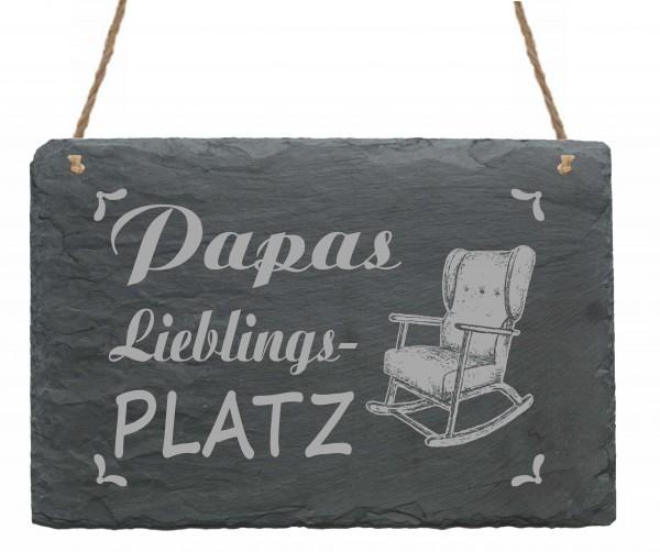Schild Das ist Papas Lieblingsplatz - Türschild Schaukelstuhl 22 x 16 cm