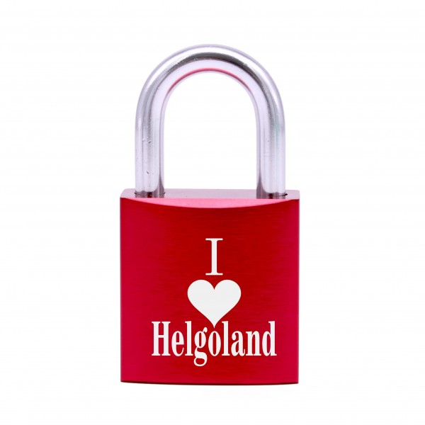 Schloss mit Gravur I love Helgoland • 5 Farben