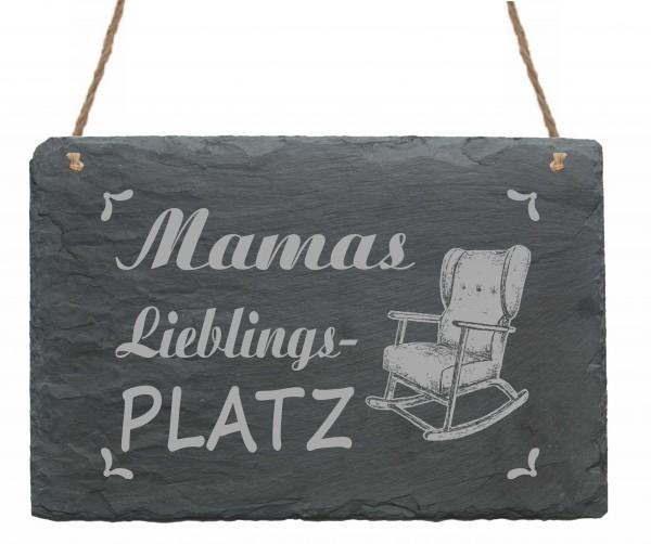 Schild Das ist Mamas Lieblingsplatz - Türschild Schaukelstuhl 22 x 16 cm