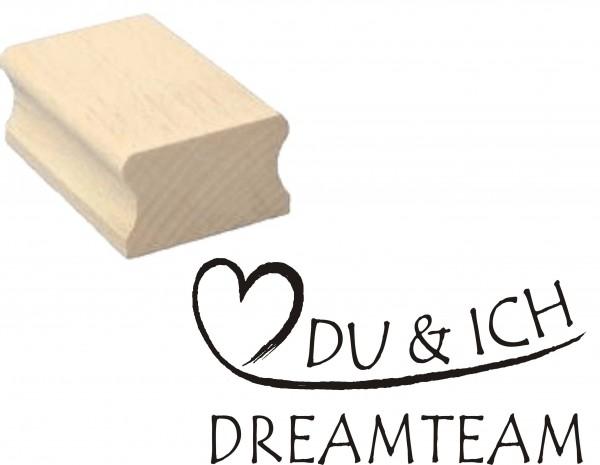 Stempel « DU & ICH DREAMTEAM » Motivstempel 50 x 30 mm