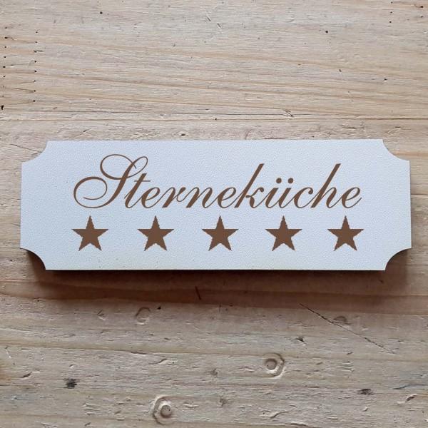 « Sterneküche » Hinweisschild