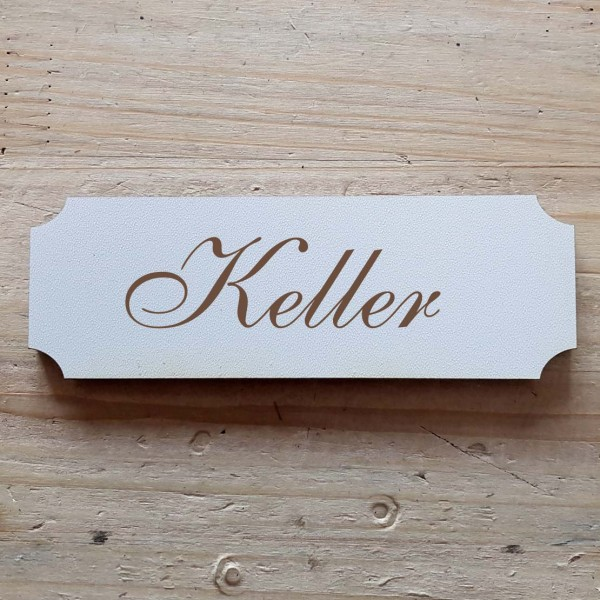 « Keller » Hinweisschild