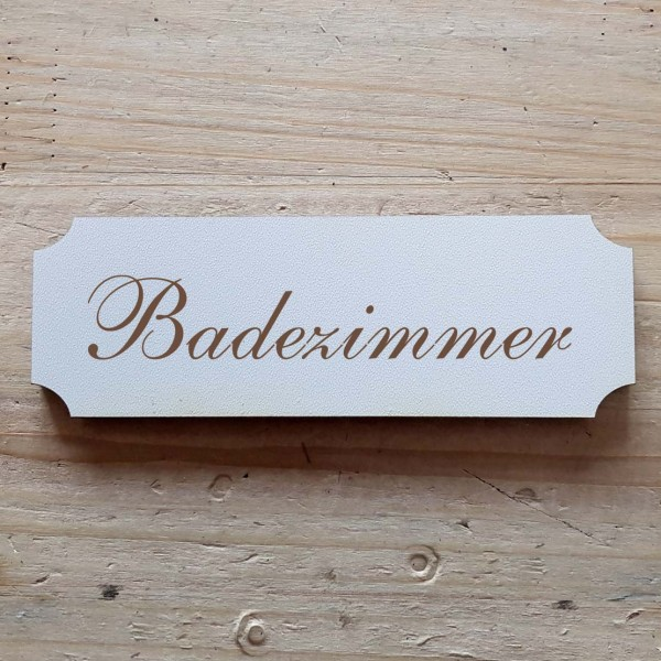 « Badezimmer » Hinweisschild