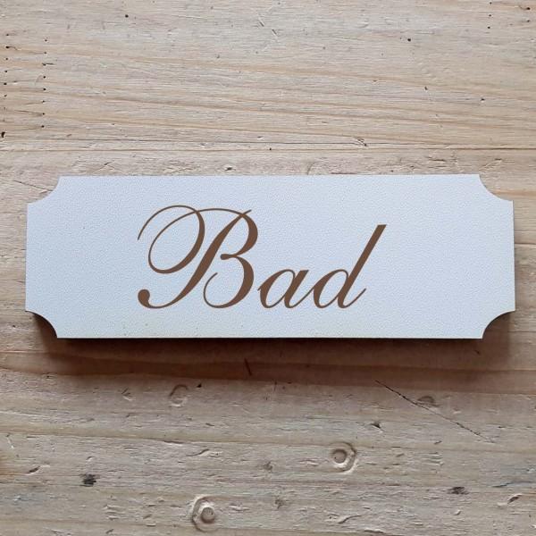 « Bad » Hinweisschild