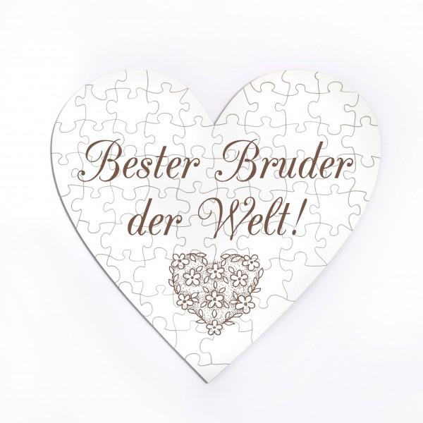 Herz Puzzle Bester Bruder der Welt - 70 Teile
