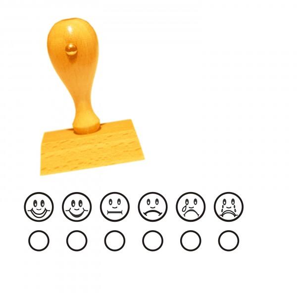 Lehrerstempel « SMILIES ZUM ANKREUZEN » Smiley Note / Zensur für Schule und Ausbildung