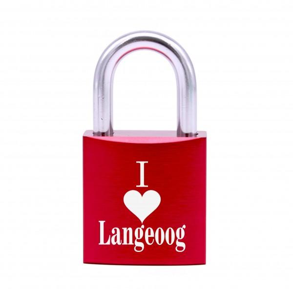 Schloss mit Gravur I love Langeoog • 5 Farben
