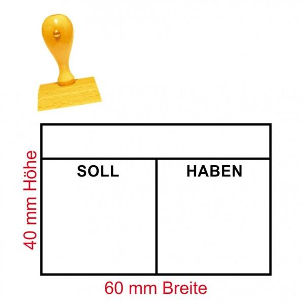 Stempel Soll Haben - Tabelle - 60 x 40 mm