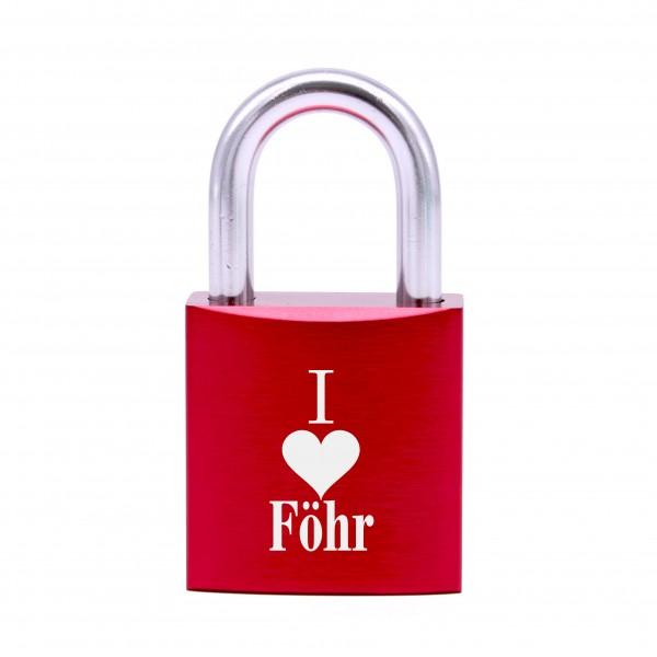 Schloss mit Gravur I love Föhr • 5 Farben