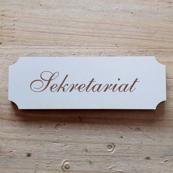 « Sekretariat » Hinweisschild