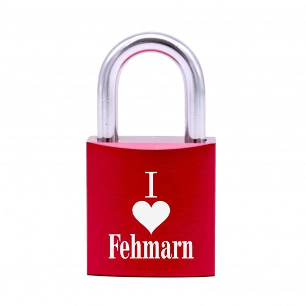 Schloss mit Gravur I love Fehmarn • 5 Farben