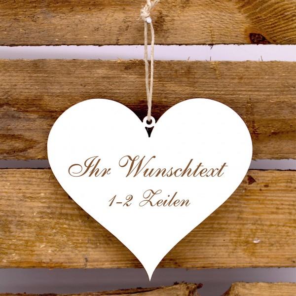 Herz Schild mit Namen oder Wunschtext - Türschild zum Anhängen