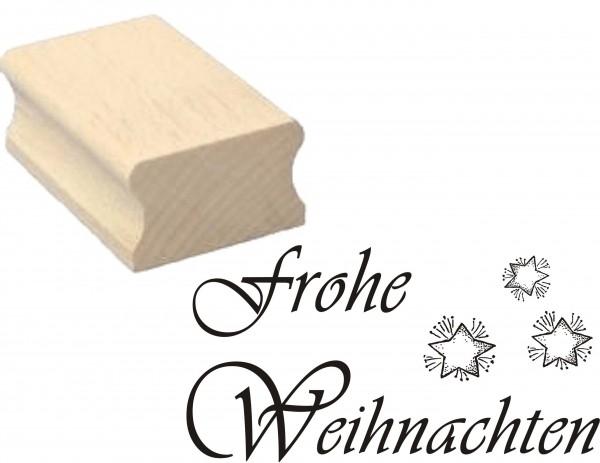 Stempel « FROHE WEIHNACHTEN » Motivstempel 50 x 30 mm