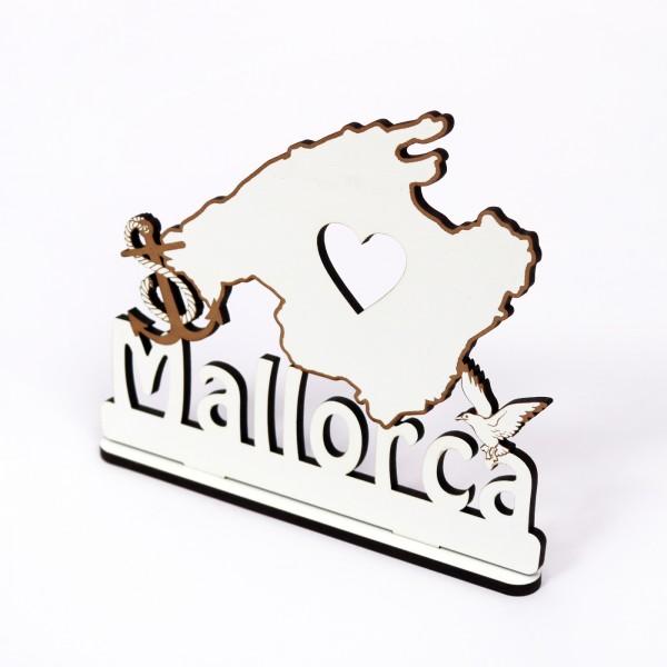 Schild « MALLORCA 02 » zum Hinstellen - Anker Herz