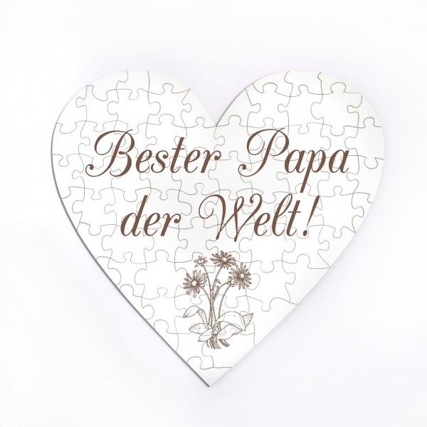 Herz Puzzle Bester Papa der Welt - 70 Teile